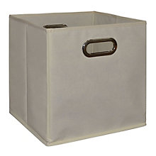 "Cubo Foldable Canvas Bin - 12""W x 12""H, 8803488"