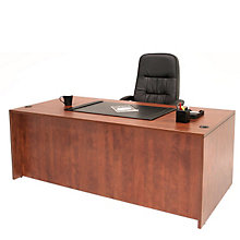 "Double Pedestal Executive Desk - 66""W x 30""D, REN-L6630DP"