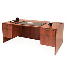 "Double Pedestal Executive Desk - 71""W x 35""D, REN-L7135DP"