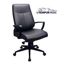 Comfort Seating Tempur-Pedic® High Back Chair in Bonded Leather, 8805168