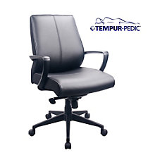 Comfort Seating Tempur-Pedic® Mid Back Chair in Bonded Leather, 8805167