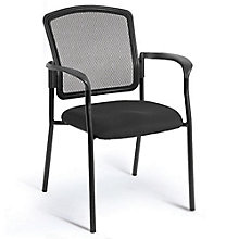Dakota2 Mesh Back Fabric Seat Stack Chair with Arms, 8813853