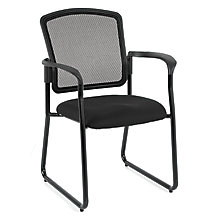 Dakota2 Mesh Back Fabric Sled Base Stack Chair, 8813854