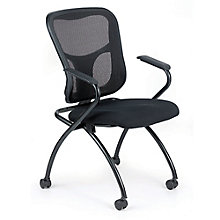 Flip Mesh Back Fabric Seat Nesting Chair, 8813863