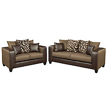 Espresso Chenille Sofa & Loveseat Set, 8812379