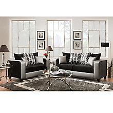Black Velvet Sofa and Loveseat Set, 8812383