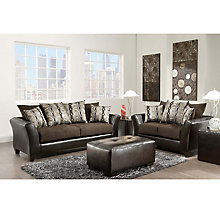 Sable Chenille Sofa and Loveseat Set, 8812389