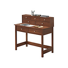 Writing Desk w/Storage & Hutch, 8812846