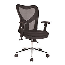 Black Mesh Mid-Back Chair, RTP-98M