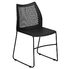 Black Sled Base Stack Chair, 8812418