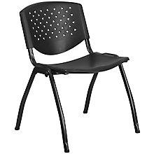 Black plastic stack chair, 8812422