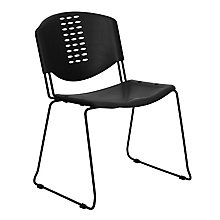 Black plastic stack chair, 8812430