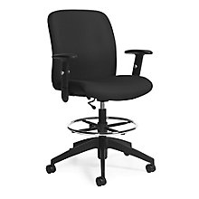 TruForm Fabric Heavy Duty Drafting Stool, 8814311
