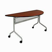 "Impromptu Half-Round Mobile Training Table - 48"" x 24"", SAF-2073"