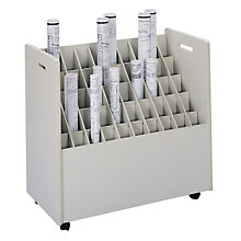 Mobile Roll File - 50 Compartments, SAF-3083