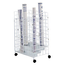 Mobile Wire Roll File - 24 Compartments, SAF-3088