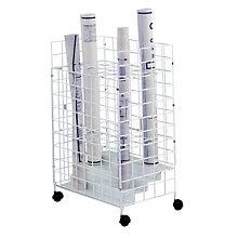 Mobile Wire Roll File - 24 Compartments, SAF-3088