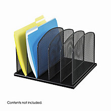 Five Section Desktop Filing Organizer, SAF-3256BL
