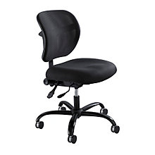 Vue Big and Tall Armless Mesh Back Chair, SAF-3397BL
