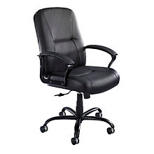 Serenity High Back Big and Tall Leather Executive Chair, SAF-3500BL