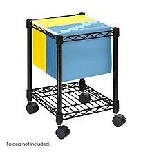Compact Mobile Wire File Cart, SAF-5277BL