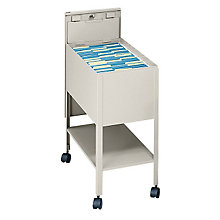 Extra Deep Mobile Letter Size Tub File with Lock, SAF-5362