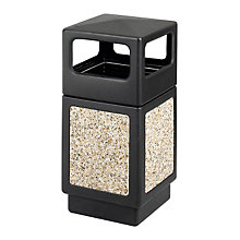 Open Side Waste Receptacle with Aggregate Panels, SAF-9472NC