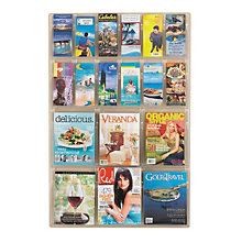Clear Literature Rack - 12 Pamphlet, 6 Magazine, SAF-5600CL