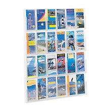 Clear Literature Rack - 24 Pamphlet, SAF-5601CL