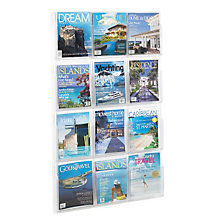 Clear Literature Rack - 12 Magazine, SAF-5602CL