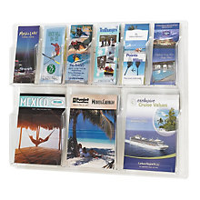 Clear Literature Rack - 6 Pamphlet, 3 Magazine, SAF-5605CL