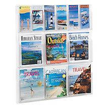 Clear Literature Rack - 6 Pamphlet, 6 Magazine, SAF-5606CL