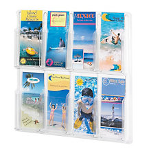 Clear Literature Rack - 8 Pamphlet, SAF-5608CL