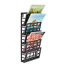 Five Pocket Grid Literature Display Rack, 8828220