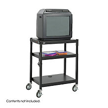 Steel Adjustable Height AV Cart, SAF-8932BL