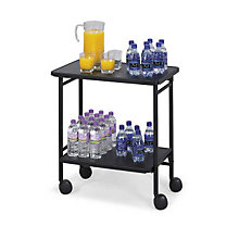 Mobile Folding Beverage/Office Cart, SAF-8965BL