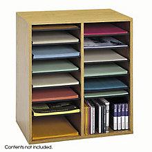 Wood Literature Organizer - Letter Size Pockets, SAF-9422