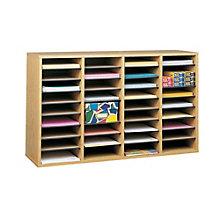 Wood Literature Organizer - Letter Size Pockets, SAF-9424