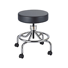 Lab Stool with Low Base and Foot Rest, 8813725