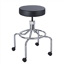 Lab Stool with High Base and Foot Rest, 8813726