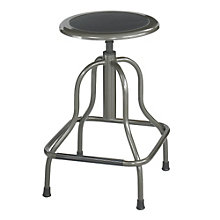 Industrial Style Stool in Bonded Leather Seat, SAF-10964