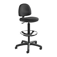 Precision Fabric Drafting Stool with Footring , 8813837