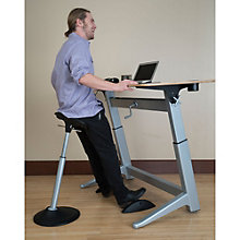 Focal Upright Perch Stool, Desk and Footrest Set, 8823885