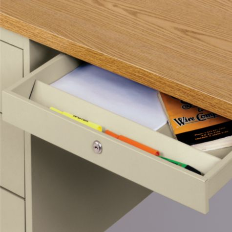 Drawer Features a Pencil Compartment