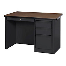 "900 Series Steel Single Pedestal Compact Desk - 48""W, 8802331"