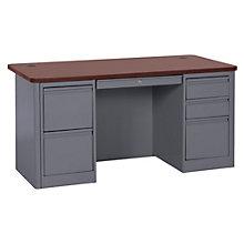 "900 Series Steel Double Pedestal Computer Desk - 60""W, 8802332"