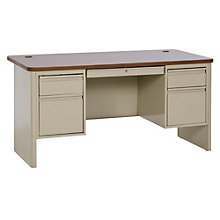 "700 Series Steel Double Pedestal Computer Desk - 60""W, 8802334"