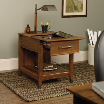 Carson Forge End Table With Charging Station Officefurniture Com
