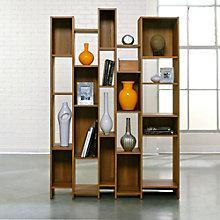 Soft Modern Asymmetrical Cubby Bookcase, SAU-10977