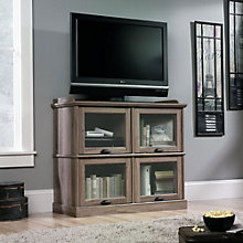 Barrister Lane TV Stand with Flip-Up Glass Doors, SAU-11059